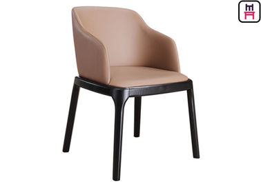 Cina Grace Arm Chair Padded Wood Restaurant Chairs Furniture Modern Dengan Sudut Bulat Aman pabrik