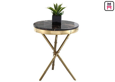 Cina Crossed Triangle Base Coffee Table Round Modern, High End Coffee Tables Living Room pabrik