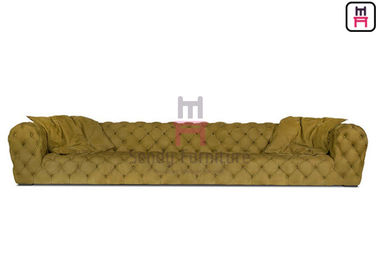 Chester Leather Tufted Restaurant Sofa Set Aplikasi Lobi Hotel Bintang Lima