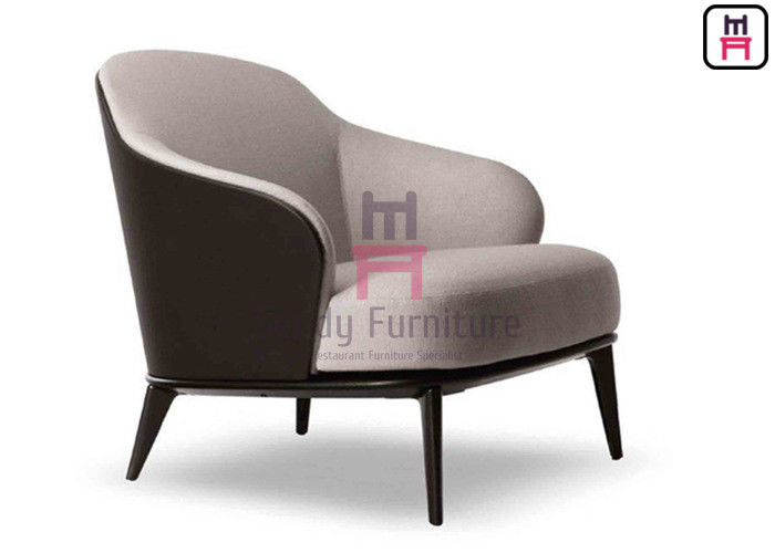 Comfortable Black Leather Armchair 79 * 86 * 80cm Size For Office /  Lobbies