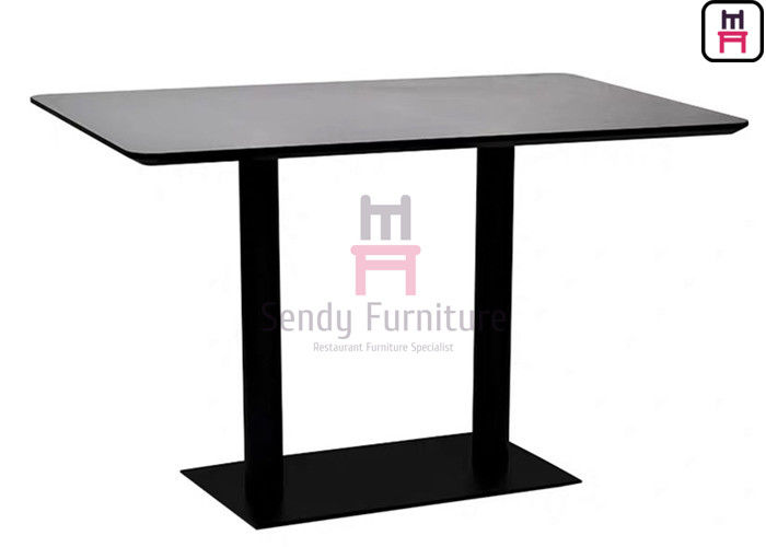 Heat-resisting & Waterproof 55 inch Length MDF with Maple Wood Veneer Fast Food Dining Table