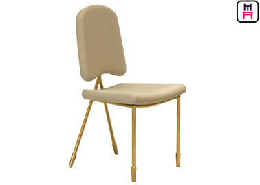 Nordic Velvet Dancing Chair Kursi Stainless Steel Restaurant Dengan Arrowhead Gold Leg