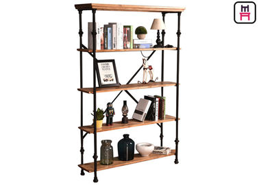 Restaurant / Bar / Club Loft Style Shelving Crossed Tube Design Frame Penyimpanan Rustic Chic